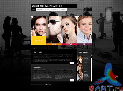 Models Talent Website Free Template