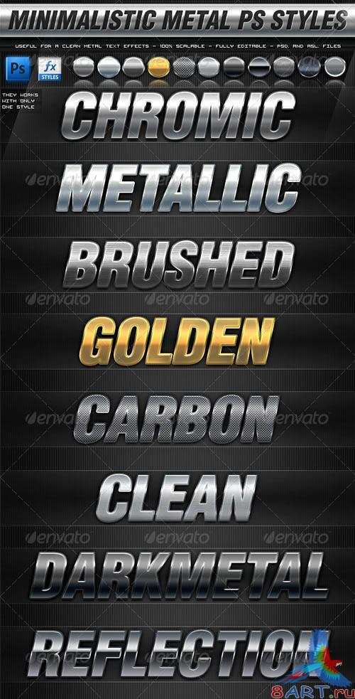 GraphicRiver Minimalistic Metal Photoshop Styles