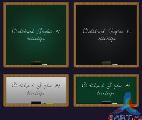 PSD Template - 4 Different Chalkboard