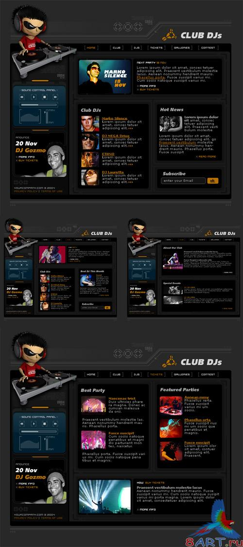 Web site DJ PSD Template