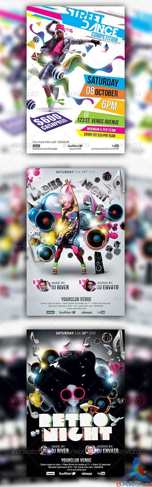 GraphicRiver Club/Events Flyer Bundle #04