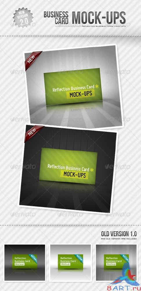 GraphicRiver - Reflection Business Card Mockup 154427