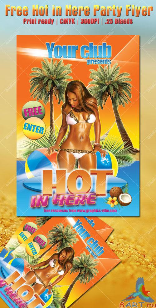 Hot in Here Party Flyer/Poster PSD Template