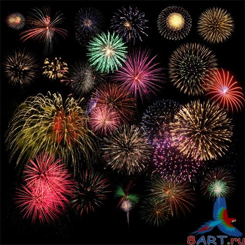 PSD Source - Fireworks Cliparts