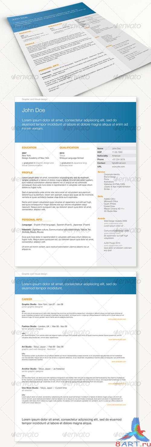 GraphicRiver Get Minimal - Resume 01 RETAIL