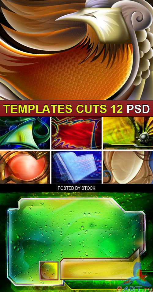 PSD Source - Templates cuts 12