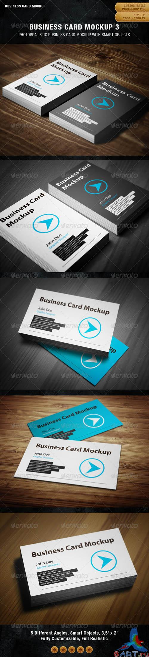 GraphicRiver Business Card Mockup 3 - REUPLOAD