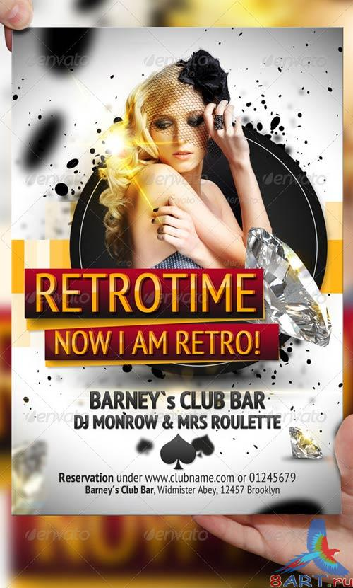 GraphicRiver RetroTime Party Flyer Template