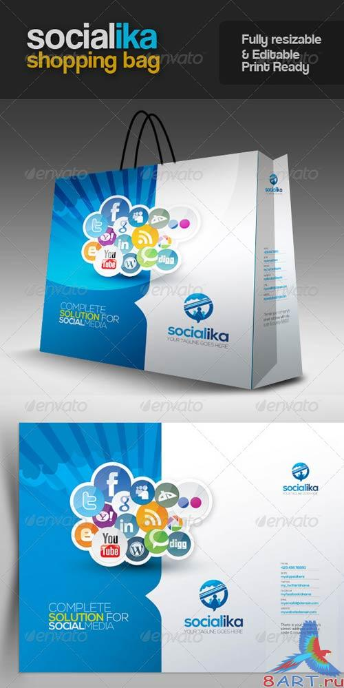 GraphicRiver Socialika Social Media Shopping Bag