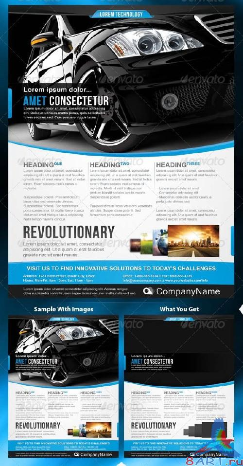 GraphicRiver Corporate Technology Flyer Template