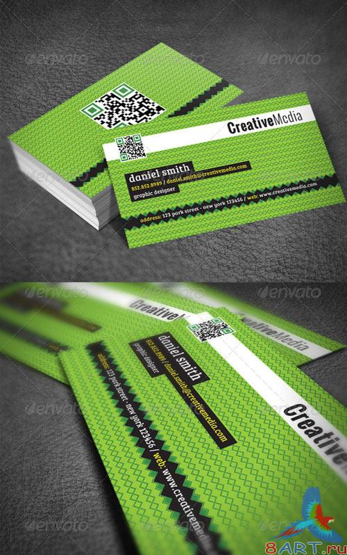 GraphicRiver Green Modern Business Card