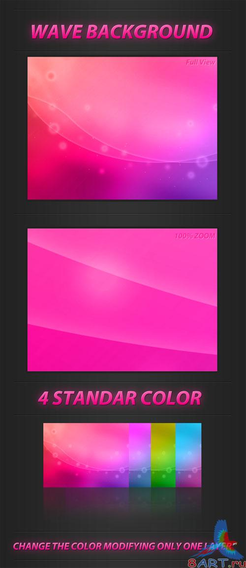 PSD Template - Wave Backgrounds Pack