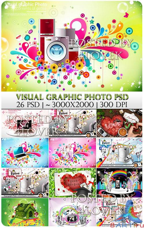 Visual Graphic Photo PSD