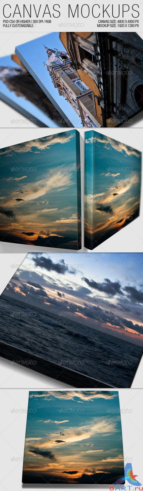 GraphicRiver Canvas Mockups
