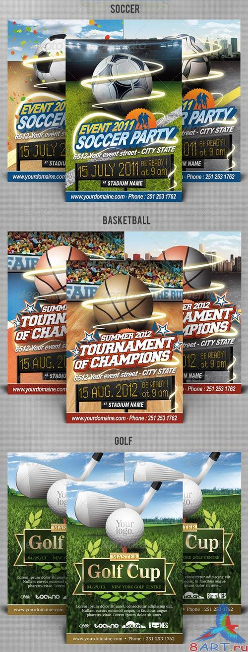 GraphicRiver Best Sport Flyers Bundle