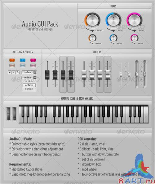 GraphicRiver Audio GUI Pack