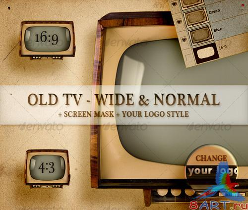 Old TV - Wide and Normal - GraphicRiver
