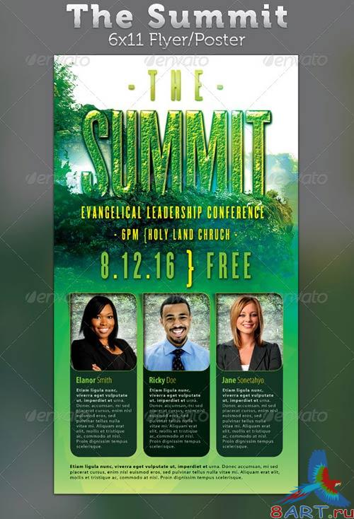 GraphicRiver The Summit Evangelical Leadership Conference Flyer