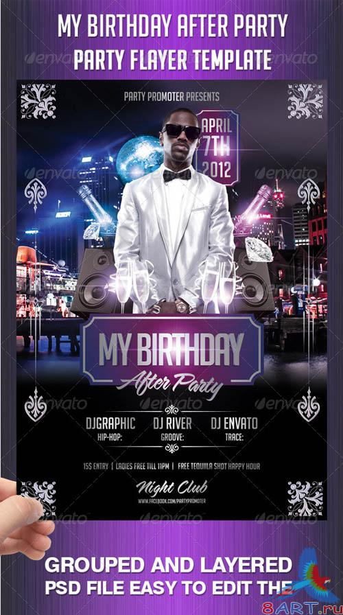GraphicRiver My Birthday After Party Flayer Template