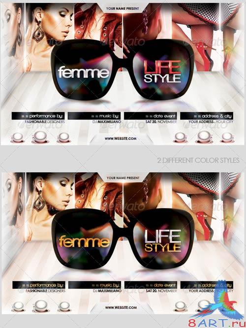 GraphicRiver Femme Lifestyle Flyer Template