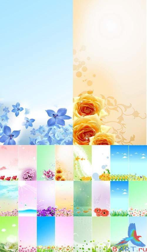 24 floral banners