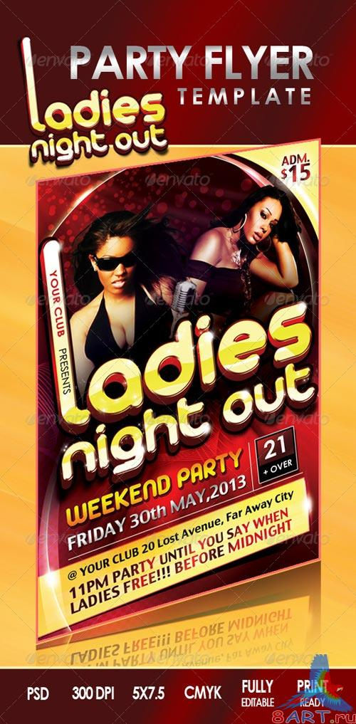 GraphicRiver Ladies Night Out Flyer
