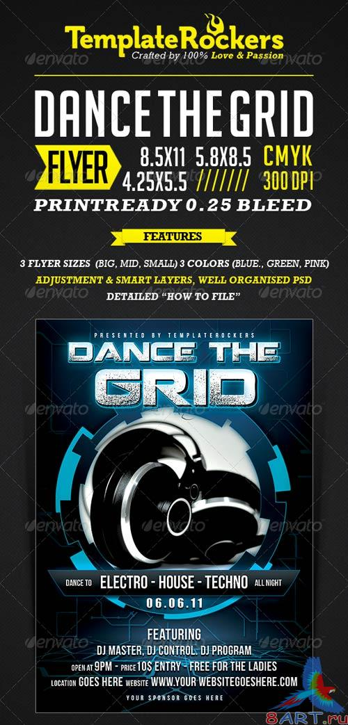 GraphicRiver The Grid - Flyer / Poster 3 SIZES