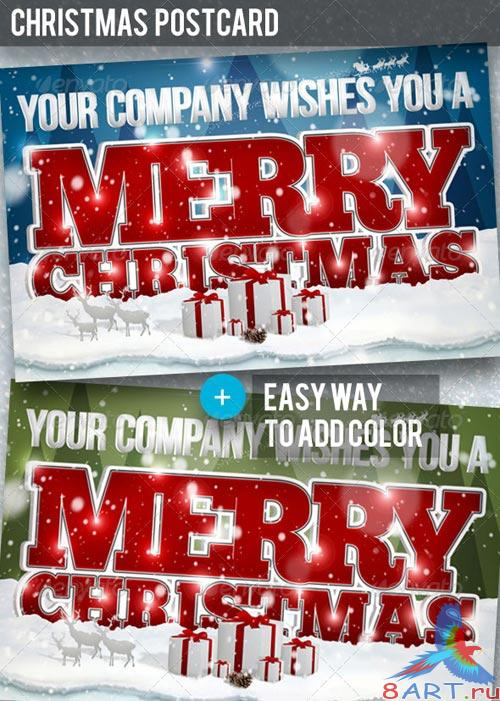 GraphicRiver Christmas Postcard