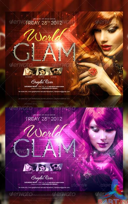 GraphicRiver Glam World Party Flyer