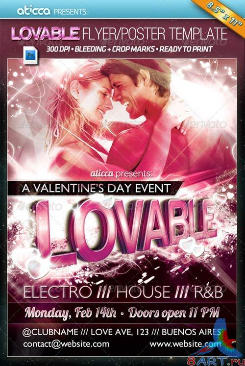 GraphicRiver Lovable - Valentine's Poster Template