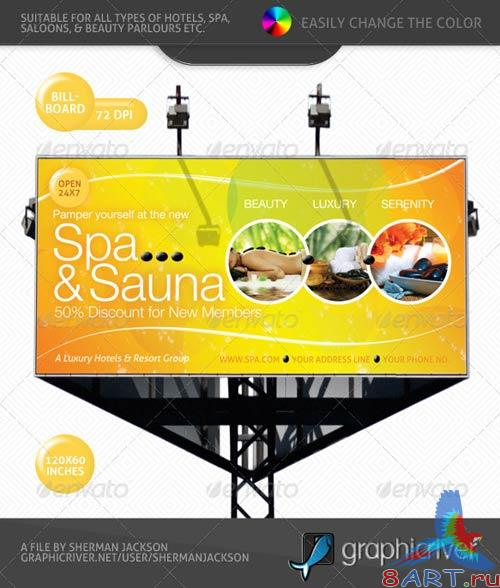 GraphicRiver Spa & Sauna Multipurpose Banner & Billboard PSD