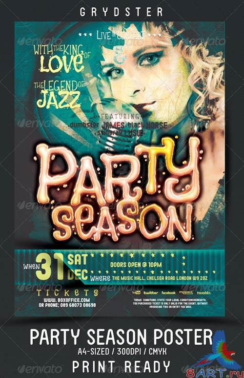 GraphicRiver Party Season Flyer - Poster