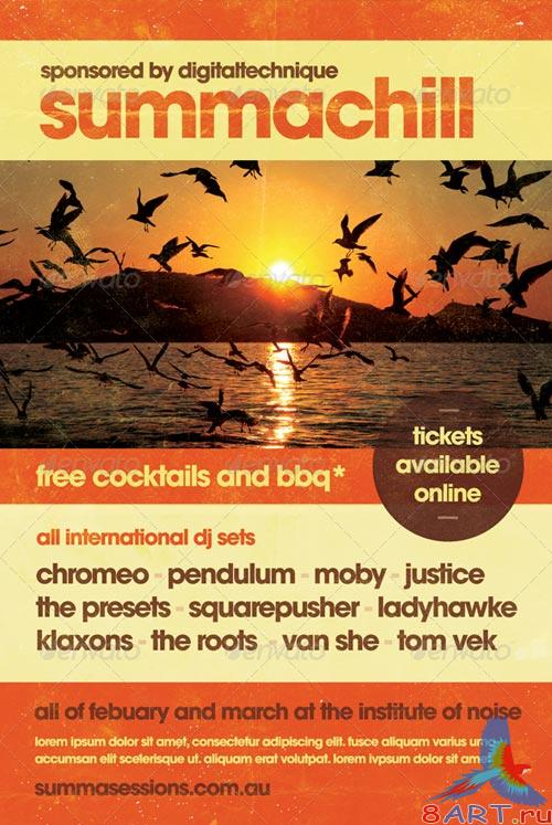 GraphicRiver Summachill - Summer Flyer Template