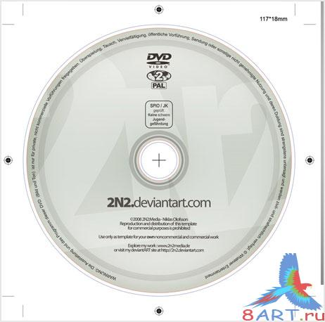 PSD-шаблон DVD-label