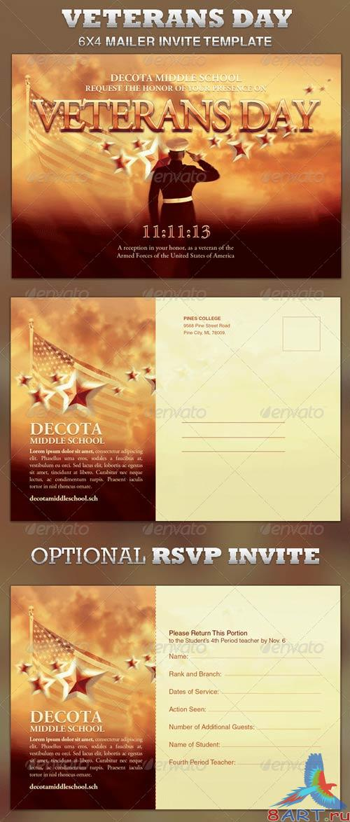 GraphicRiver Veterans Day Mailer Invite Template