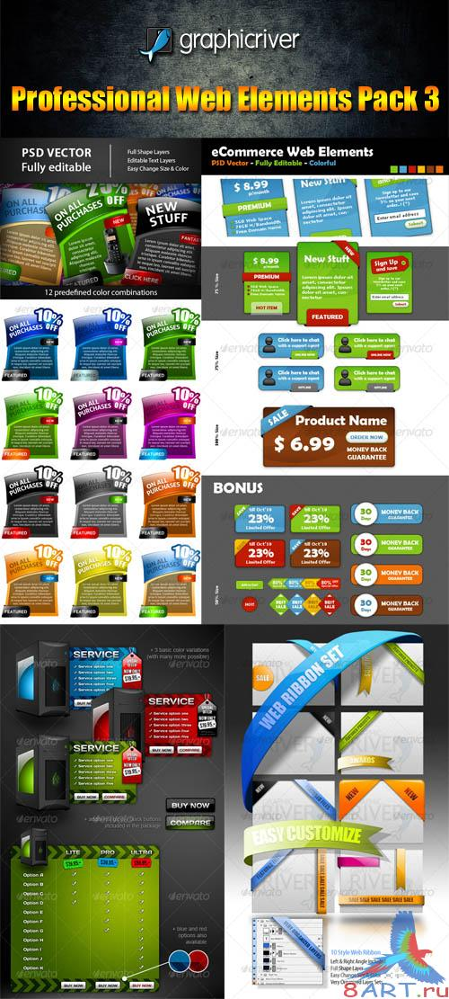 GraphicRiver Professional Web Elements Pack 3 - REUPLOAD