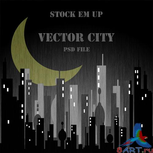 Vector City PSD Template