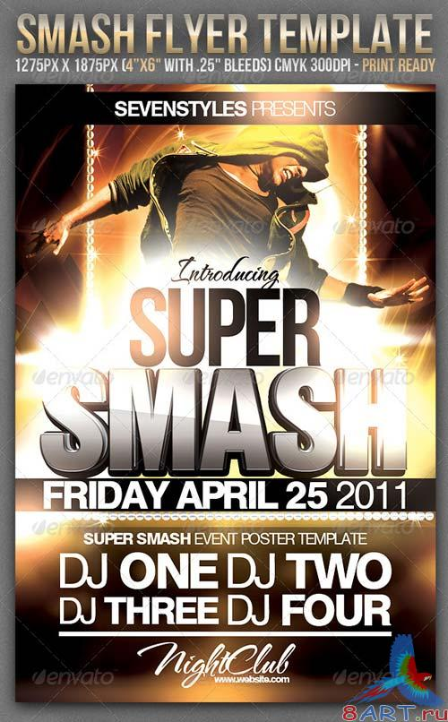 GraphicRiver Smash Party Flyer