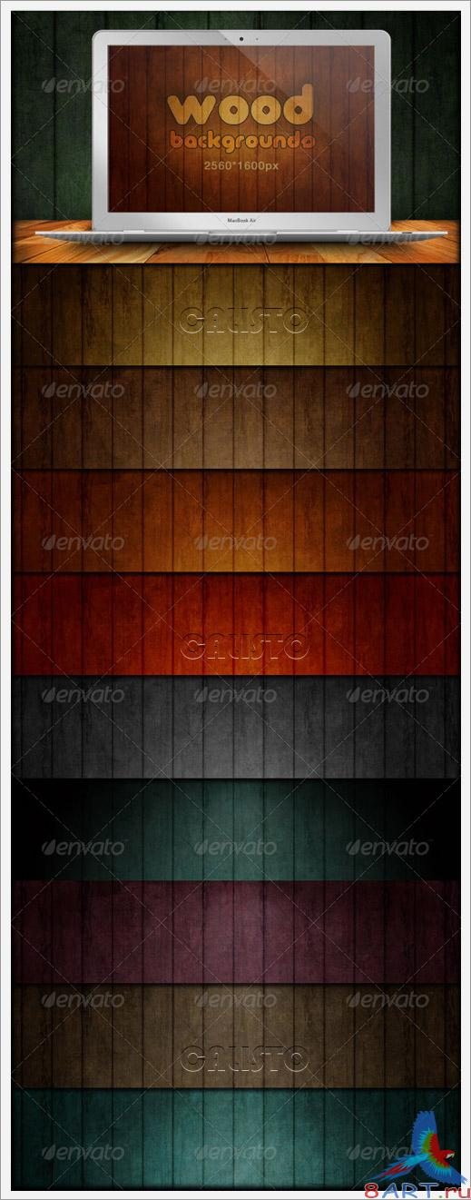 Wood Backgrounds - Grunge & Scratch - GraphicRiver