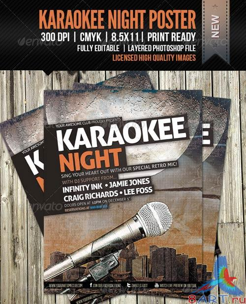 GraphicRiver KaraoKEE Night Poster