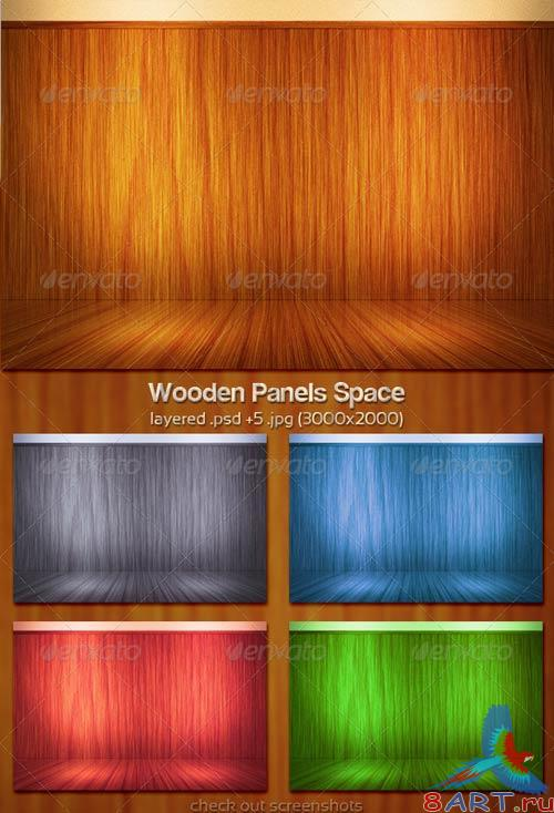 GraphicRiver Wooden Panels Space
