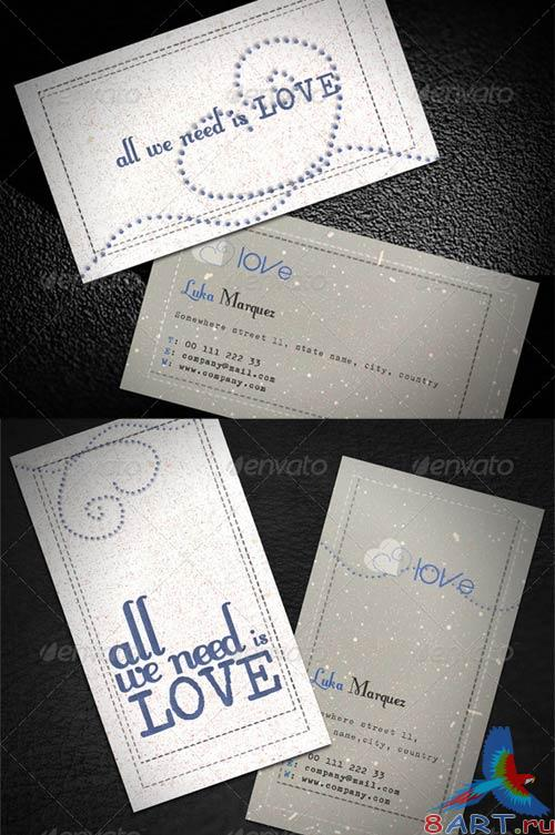 GraphicRiver Love Business Card