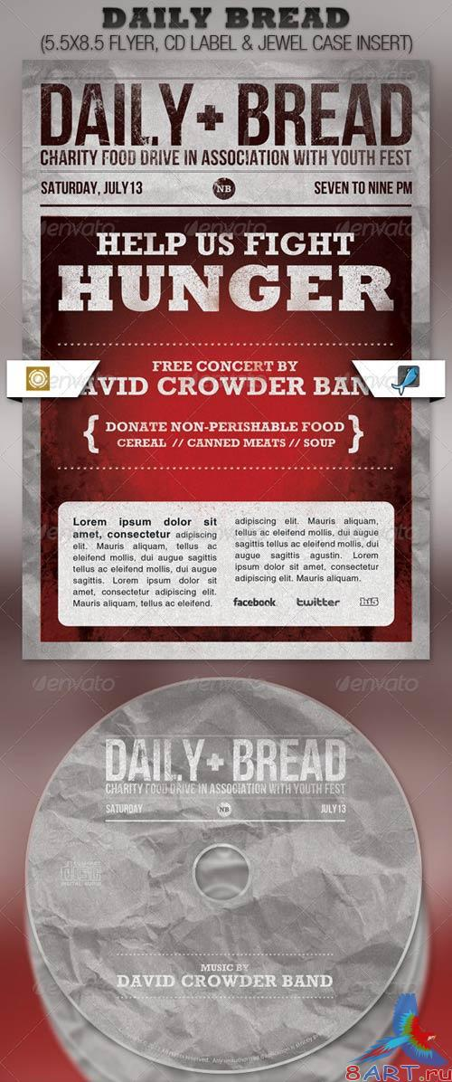 GraphicRiver Daily Bread Church Flyer and CD Template