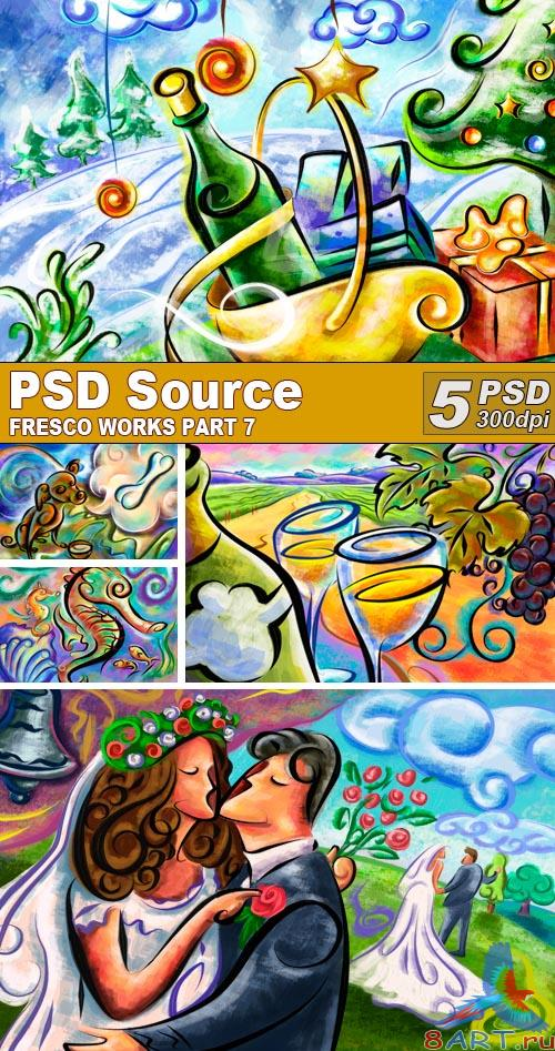 PSD Illustrations - Fresco works 7