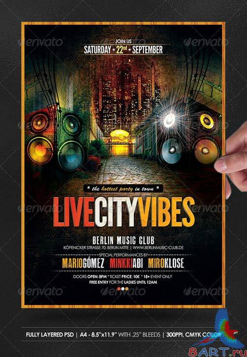 GraphicRiver Live City Vibes Poster/Flyer