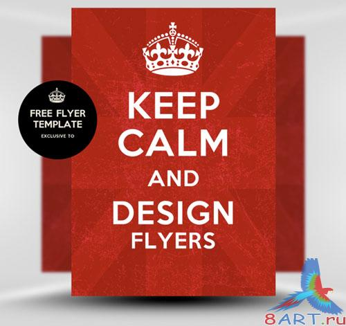 Keep Calm and Carry On Flyer/Poster PSD Template
