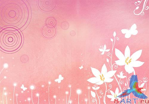 PSD - Pink Floral Template