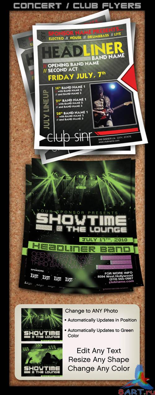 Concert Club Flyers Template
