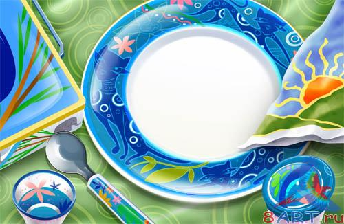 PSD - Colorful Tableware