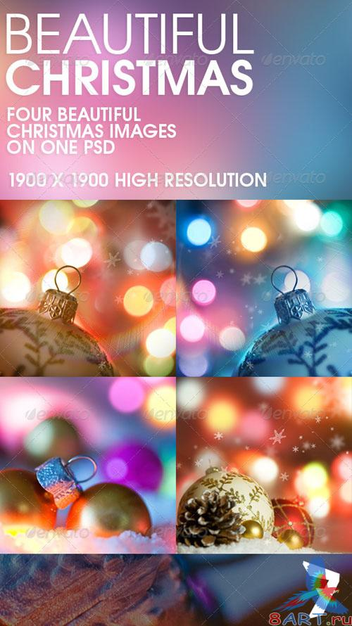 GraphicRiver - Beautiful Christmas: Background Set 140163